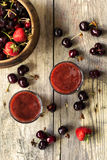Delicious sweet cherry smoothie Royalty Free Stock Photo