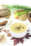 Delicious sweet chestnut soup Royalty Free Stock Images