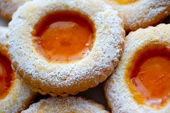 Delicious sweet cookies with jam Stock Photo