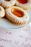 Delicious sweet cookies with jam Royalty Free Stock Photo