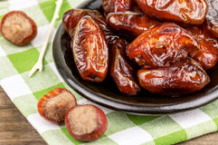 Delicious sweet dates Stock Photography