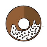 Delicious sweet donut icon Royalty Free Stock Photos