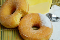 Delicious sweet donuts with sugar Stock Photography