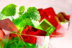 Delicious sweet jelly dessert Royalty Free Stock Images