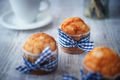 Delicious sweet muffins Stock Photos