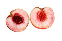 Delicious sweet peaches royalty free stock photo