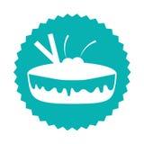 delicious sweet pie icon Royalty Free Stock Image