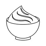 Delicious sweet pudding icon Royalty Free Stock Images