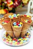 Delicious sweets closeup Royalty Free Stock Photos