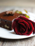 Delicious sweets and rose Royalty Free Stock Photography