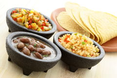 Delicious taco ingredients Royalty Free Stock Images