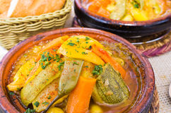 Delicious tajine on the table - Morocco Royalty Free Stock Photos