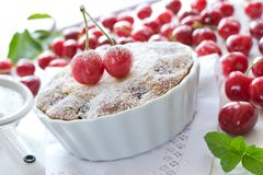 Delicious tart with cherries Royalty Free Stock Image