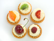 Delicious tart circle Stock Images