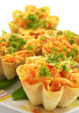 Delicious tartlet. On the plate Royalty Free Stock Images