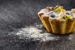 Delicious tartlet with fruit Royalty Free Stock Image