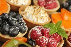 Delicious tarts Stock Images