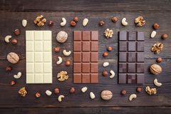 Delicious and tasty chocolate background Royalty Free Stock Photo