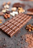 Delicious and tasty chocolate background Stock Photo