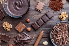 Delicious and tasty chocolate background Stock Photos
