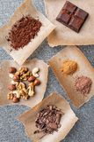 Delicious and tasty chocolate background Royalty Free Stock Image