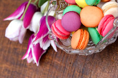 Delicious - tasty colorful macaroon - macaron Royalty Free Stock Photography