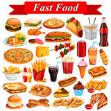 Delicious tasty Fast Food and drink item Stock Photography