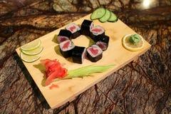 Delicious Tekka maki sushi rolls Stock Images