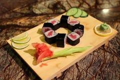 Delicious Tekka maki sushi rolls Royalty Free Stock Photos