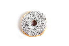 Delicious tempting donut with toppings unhealthy nutrition sugar sweet addiction concept Royalty Free Stock Images