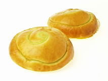 Delicious thai custard filled bun Stock Images