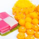 Delicious thai dessert set Stock Images