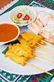 Delicious Thai food call  MOO SATAE Royalty Free Stock Images