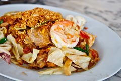 Delicious Thai food called Padthai 2 Stock Images