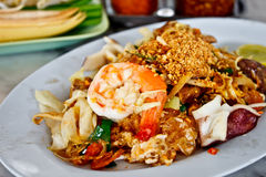 Delicious Thai food called Padthai 3 Stock Images
