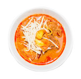 Delicious thai food, Rrd curry in a white bowl. Royalty Free Stock Images