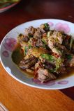 Delicious thai food. Delicious Spicy Chicken thai food Royalty Free Stock Photos