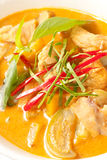Delicious Thai panang curry close up Royalty Free Stock Photo