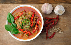 Delicious Thai panang curry Stock Images