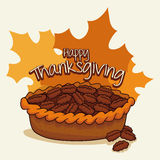 Delicious Thanksgiving Pecan Pie, Vector Illustration Royalty Free Stock Photo