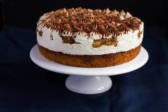 Delicious tiramisu cake on cake stand Stock Photo