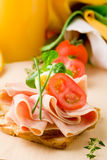 Delicious Toast and Orange Juice Royalty Free Stock Image