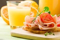 Delicious Toast and Orange Juice Royalty Free Stock Image