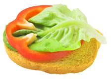 Delicious toast with salad lief Royalty Free Stock Image