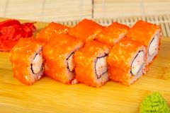 Delicious Tokyo roll Royalty Free Stock Photography