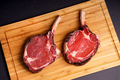 Delicious Tomahawk Steak Stock Photo