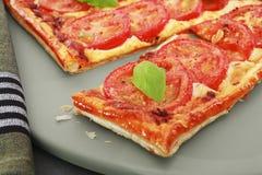 Tomato Mozzarella Tart Royalty Free Stock Image