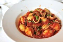 Delicious tomato pasta Royalty Free Stock Photo