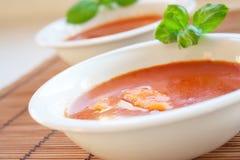 Delicious tomato soup Stock Photo