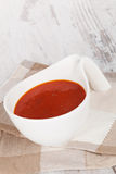 Delicious tomato soup. Royalty Free Stock Photo